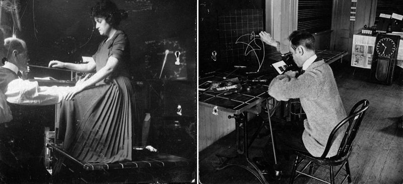 Performance management — captured here in photographs from Frank Gilbreth — has long contributed to ill health in researchers.Credit: Kheel Centre